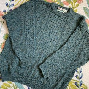 VTG Celtic Country Green Wool Chunky Sweater